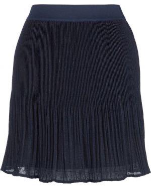 Юбка мини плиссированная синяя Lacoste