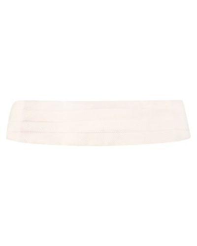 Белый шелковый камербанд Ermenegildo Zegna