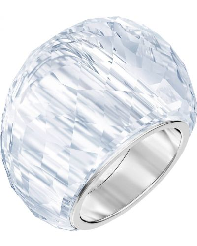 Кольцо свободного кроя металлический Swarovski