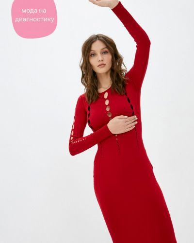 Коричневое прямое платье Rinascimento