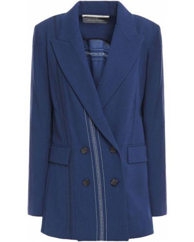 Шерстяной пиджак двубортный с карманами Roland Mouret