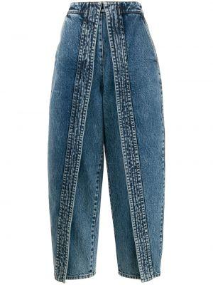Свободные широкие джинсы с карманами со вставками свободного кроя Stella Mccartney