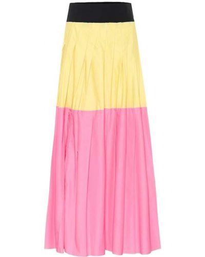 Bawełna różowy pofałdowany światło spódnica maxi Plan C