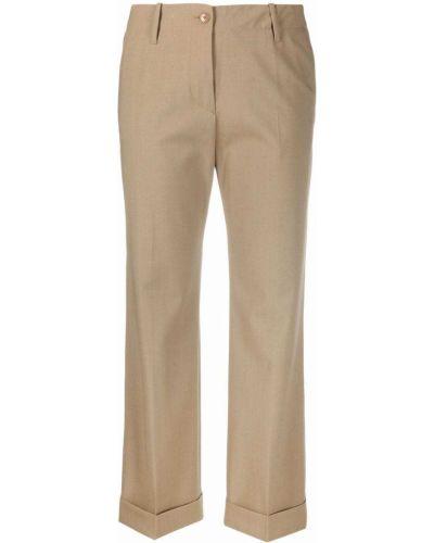 Коричневые укороченные брюки Etro