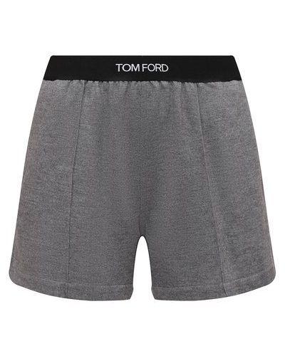 Кашемировые шорты - серые Tom Ford