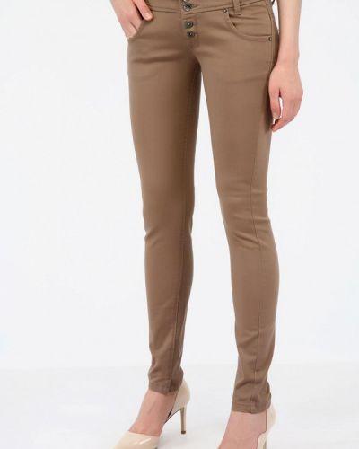 Коричневые джинсы-скинни с пайетками Alcott