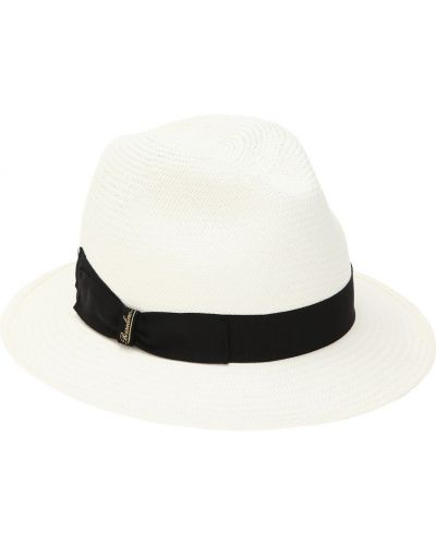 Шляпа соломенная с логотипом Borsalino