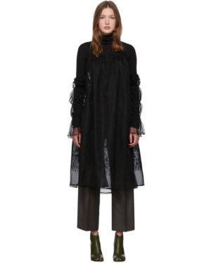 Ажурное платье макси с вышивкой на бретелях с длинными рукавами Renli Su