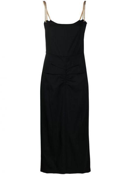 Черное платье с вырезом квадратное N21