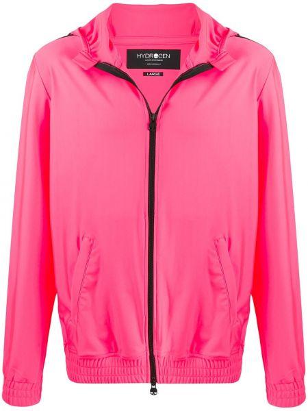 Różowa kurtka z kapturem z długimi rękawami Hydrogen