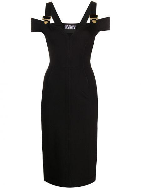Платье миди джинсовое приталенное Versace Jeans Couture