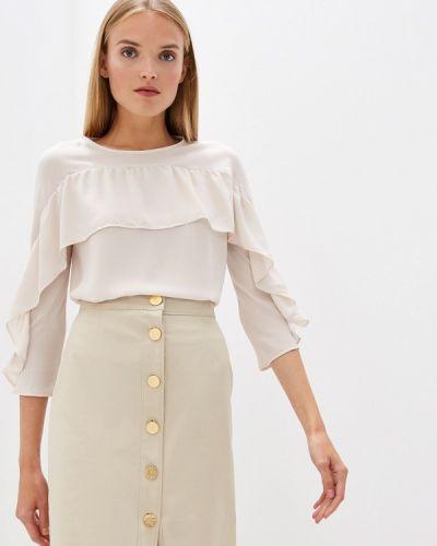 Блузка с рюшами бежевый Trussardi Jeans
