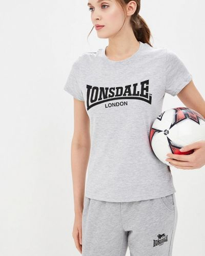 Футболка серая Lonsdale