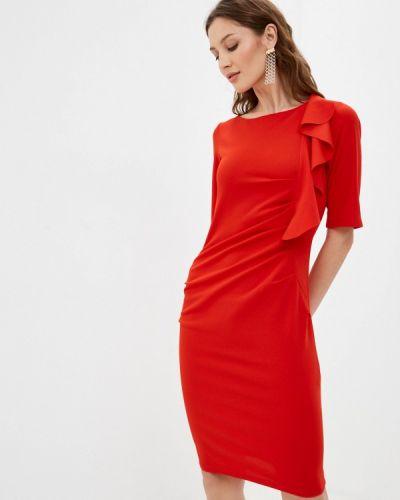 Красное платье-футляр Tantra