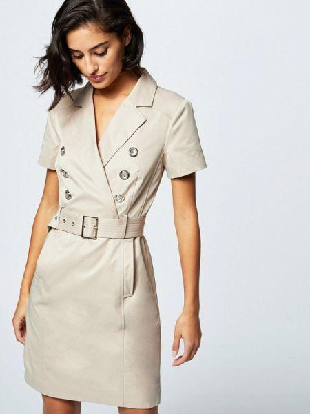 Платье платье-пиджак бежевое Morgan