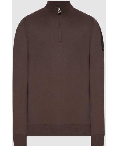 Коричневый кашемировый свитер на молнии Stefano Ricci