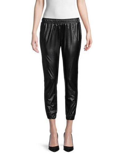 Черные брюки с карманами с манжетами David Lerner