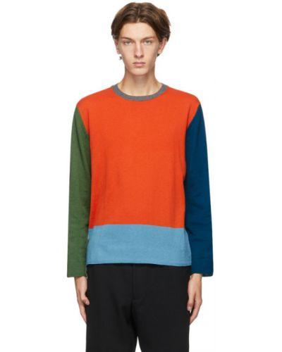 Sweter wełniany z długimi rękawami Comme Des Garcons Homme Deux