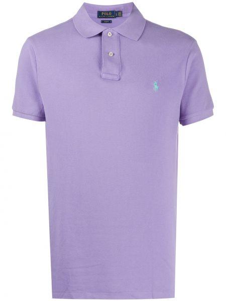 Koszulka polo fioletowy karmazynowy Polo Ralph Lauren