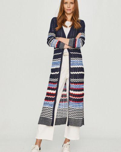 Długi sweter zapinane na guziki dzianinowy z długimi rękawami Desigual