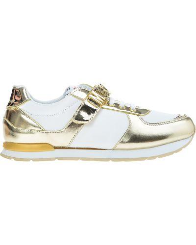 Кроссовки золотого цвета Moschino