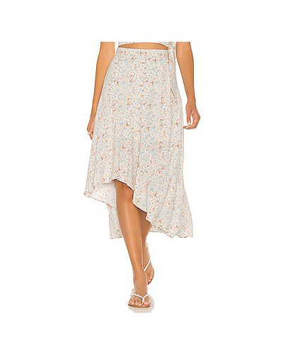 Асимметричная юбка на молнии айвори из вискозы L*space