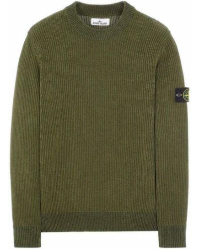 Sweter bawełniany - zielony Stone Island