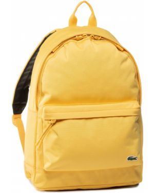 Żółty plecak Lacoste