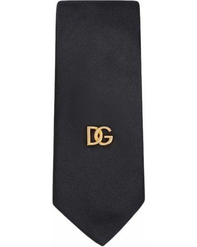 Złoty krawat - czarny Dolce And Gabbana