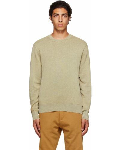 Sweter bawełniany - zielony Rag & Bone