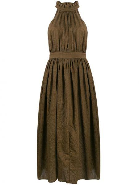Расклешенное платье с оборками без рукавов с вырезом Marysia