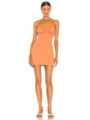 Оранжевое платье с подкладкой с оборками Lovers + Friends
