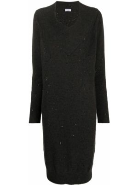 Свободное шелковое вязаное платье макси Brunello Cucinelli