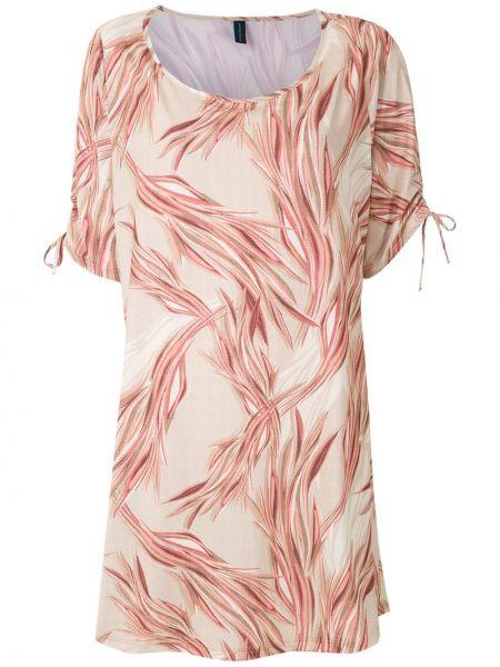Розовое платье с рисунком с короткими рукавами Lygia & Nanny