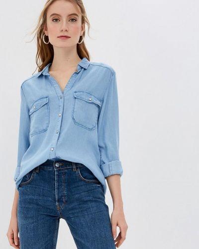 Джинсовая рубашка голубой S.oliver