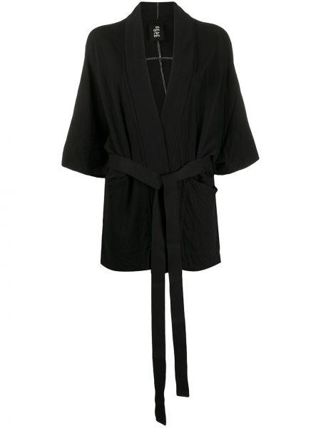 Черная куртка с поясом Thom Krom