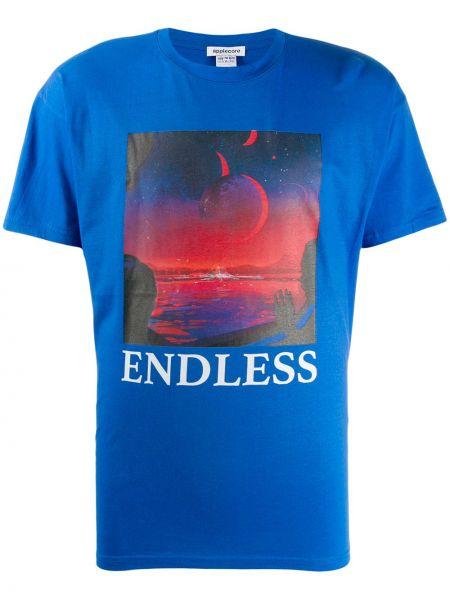 Niebieski t-shirt bawełniany krótki rękaw Applecore
