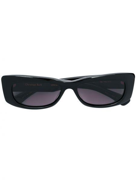 Муслиновые черные солнцезащитные очки прямоугольные Christian Roth