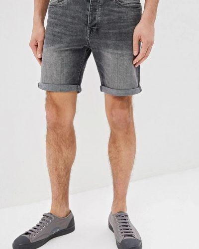 Джинсовые шорты серые Selected Homme