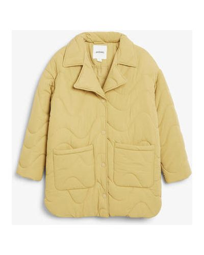Куртка оверсайз - желтая Monki