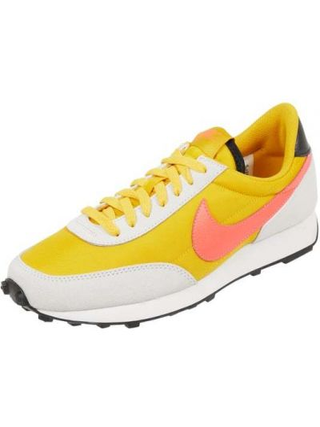 Żółte sneakersy materiałowe Nike