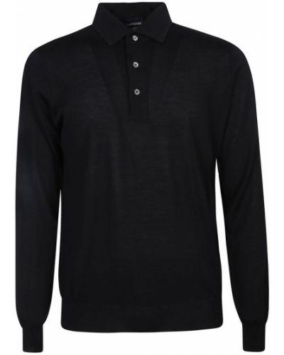 Czarny sweter Lardini