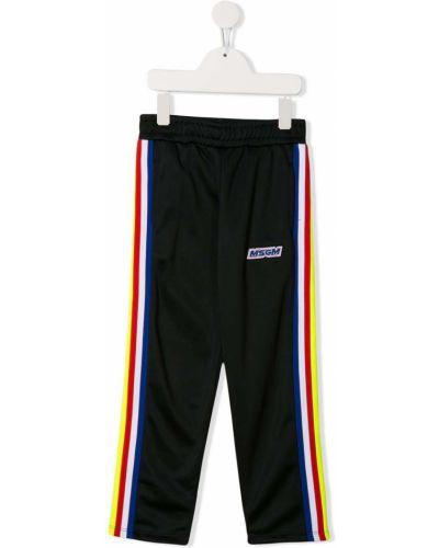 Sportowe spodnie z wysokim stanem prosto Msgm Kids
