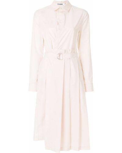 Платье миди на пуговицах с длинными рукавами Jil Sander