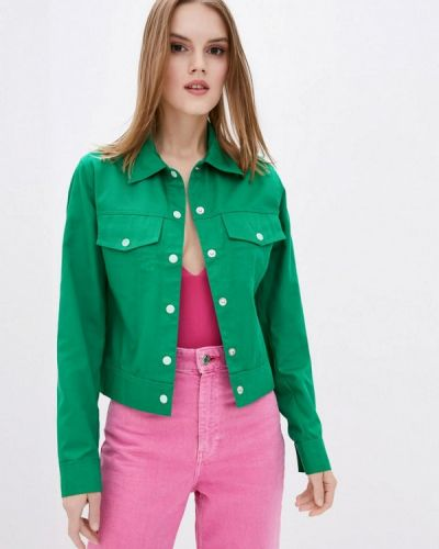 Зеленая джинсовая куртка Dasti
