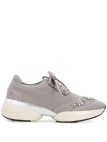 Skórzane sneakersy zasznurować tekstylne Carvela