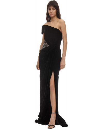 Платье из фатина - черное Marchesa