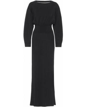 Вязаное черное вечернее платье Alaïa