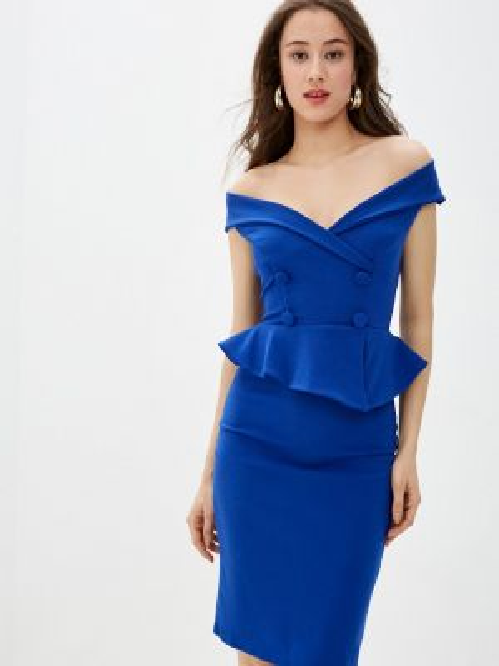 Платье футляр синее City Goddess