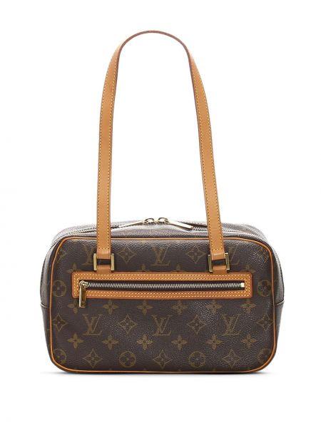 Сумка на плечо с леопардовым принтом с ручками Louis Vuitton